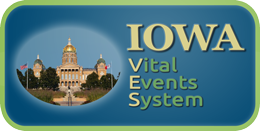 Iowa Vital Events  logo